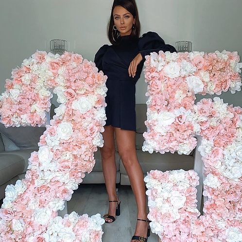 2 for £75 Giant Floral Numbers Pink