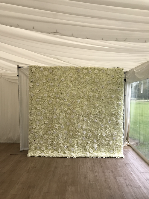 7x7ft Flower Wall Hire White
