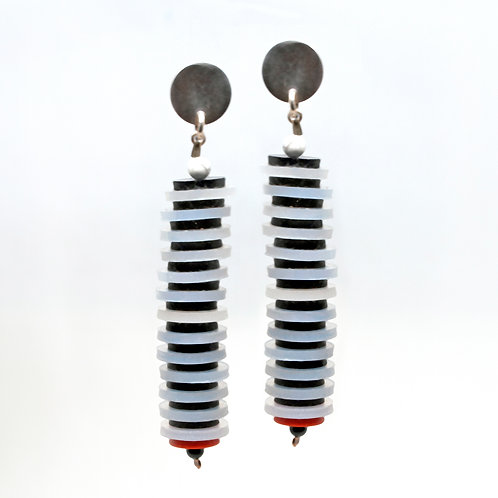 Silicone+Silver Earrings 4