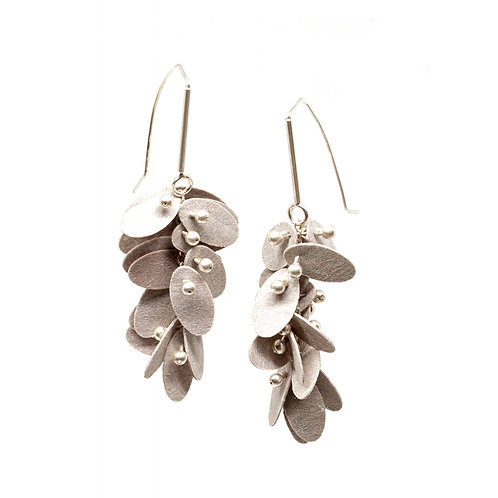 Grey PolyPetal Earrings