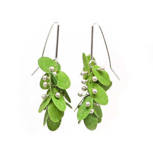 Green PolyPetal Earrings