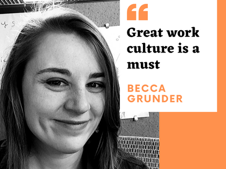 Meet Becca Grunder. She's a Marketing Up-and-Comer
