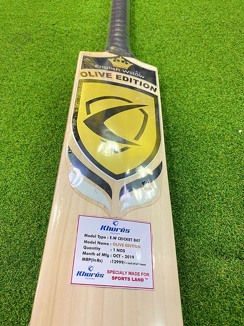 OLIVE EDITION ENGLISH WILLOW CRICKET BAT