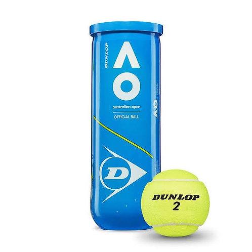 Dunlop Australian Open Tennis Ball Can (Pack of 3)