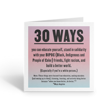 30 Ways You Can Educate Yourself, Fight Racism, Build a Better World