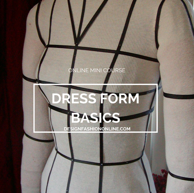 Dress Form Cover With Style Lines