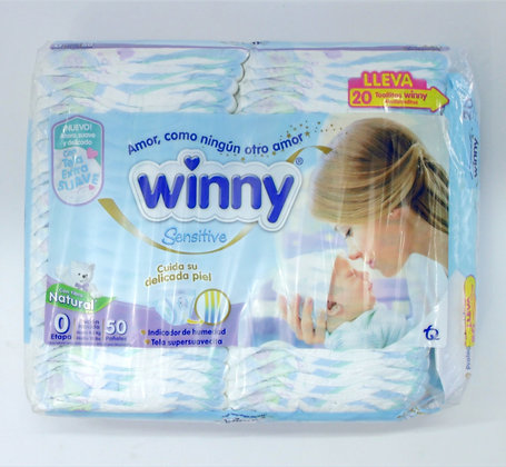 Winny 0x50 Recién Nacido + 10 Toallitas