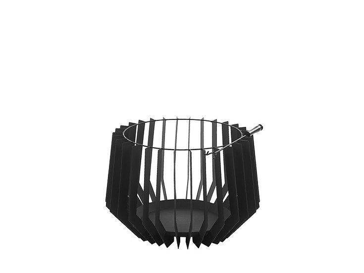 Feuerstelle schwarz Stahl rund