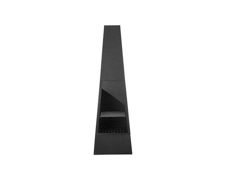 Feuerstelle schwarz Stahl