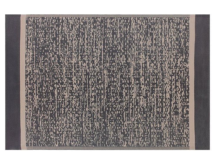 Outdoor Teppich schwarz/beige meliert 160 x 230 cm
