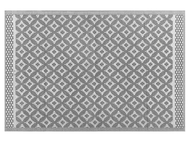 Outdoor Teppich grau 160 x 230 cm geometrisches Muster