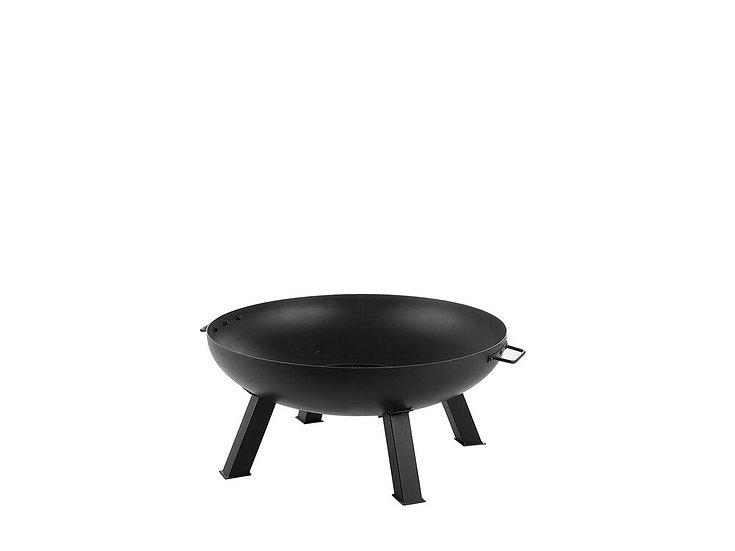 Feuerschale Stahl schwarz rund