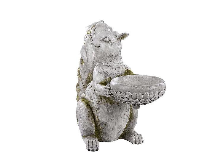 Gartenfigur Eichhörnchen Steinoptik 36 cm