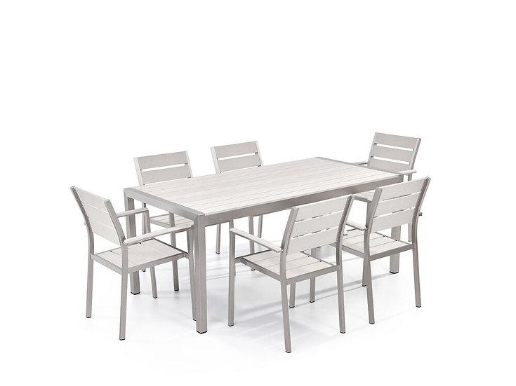 Gartenmöbel Set Aluminium Kunstholz