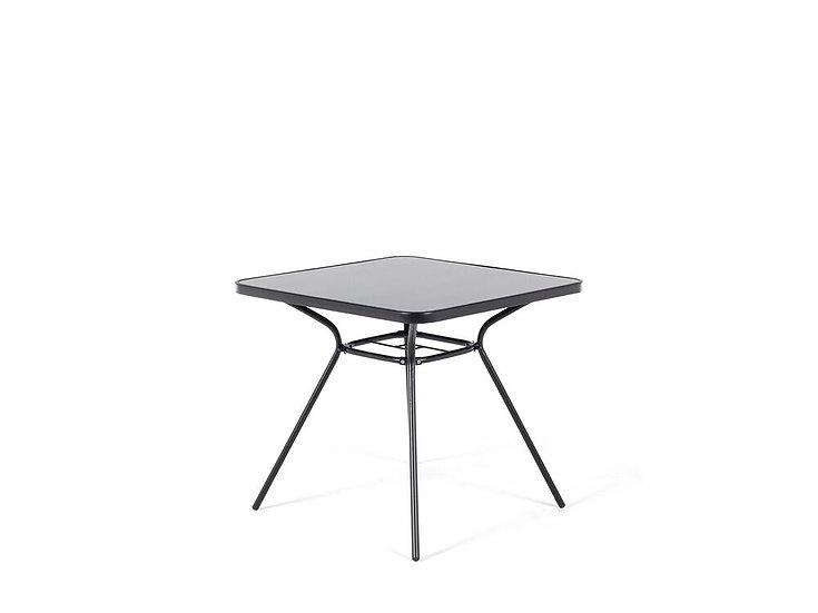 Gartentisch Stahl schwarz 80 x 80 cm