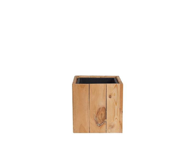 Blumentopf Holz hellbraun quadratisch 28 x 28 x 28 cm