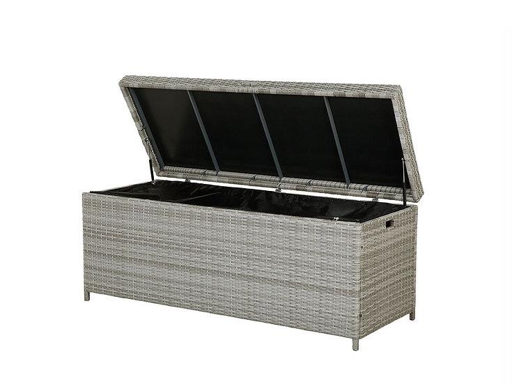 Auflagenbox Rattan grau 158 x 63 cm