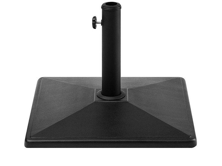 Sonnenschirmständer schwarz 50 x 50 cm