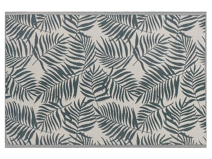 Outdoor Teppich 180 x 270 cm Palmenmuster
