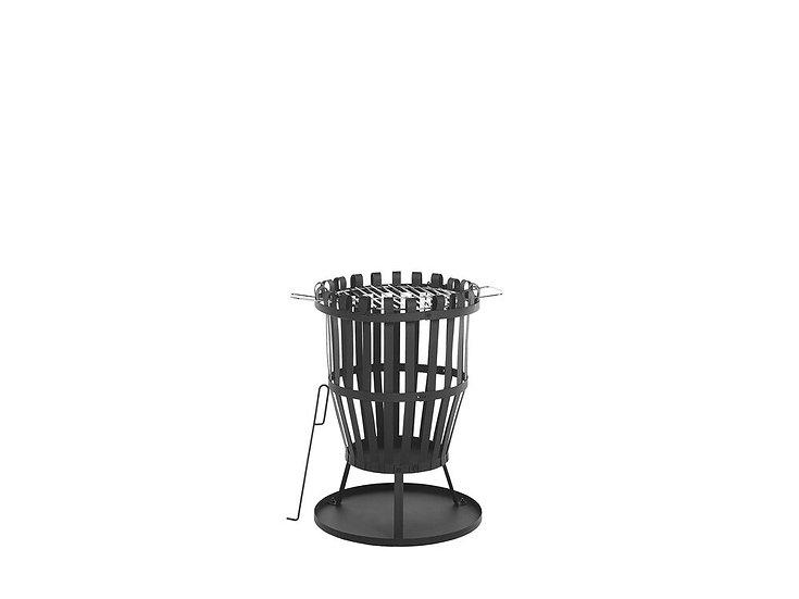 Feuerstelle Stahl schwarz rund