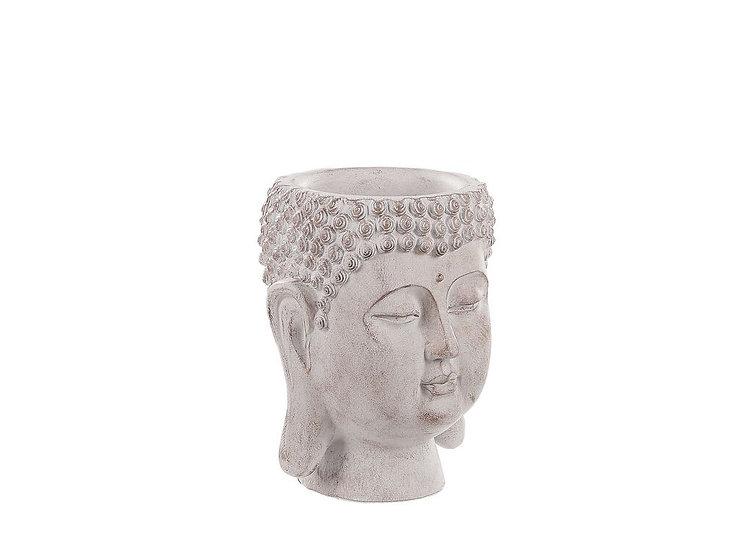 Blumentopf Buddha-Kopfcremeweiß ⌀15 cm