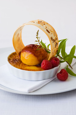 Ginger Brulee with peach