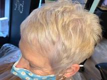 Blonde spiky short hair