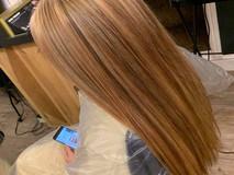 long straightened hair