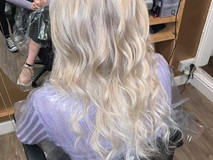 blonde wavy long hair