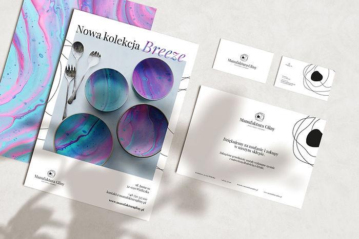 Manufaktura Gliny, branding, projekt, projektowanie graficzne, realizacja, identyfikacja wizualna, publikacja, wizytówka, podziękowanie za zakupy