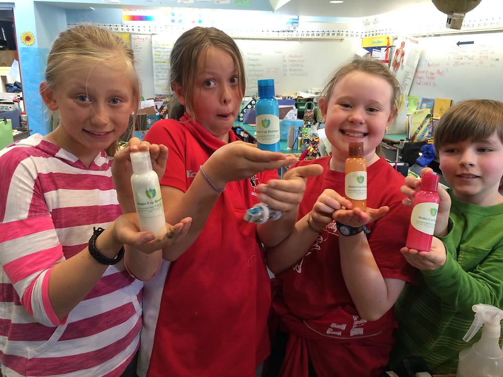The Earth friendly shampoo we made.