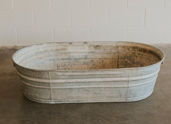 Medium Galvanized Bathtub