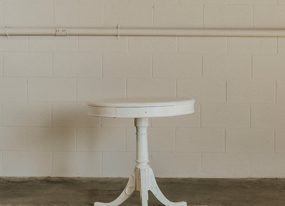 Large White End Table