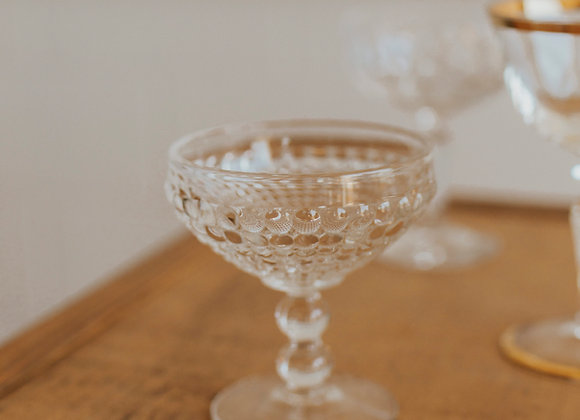 Clear Champagne Coupe
