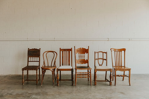 Mix and Match Wood Chairs