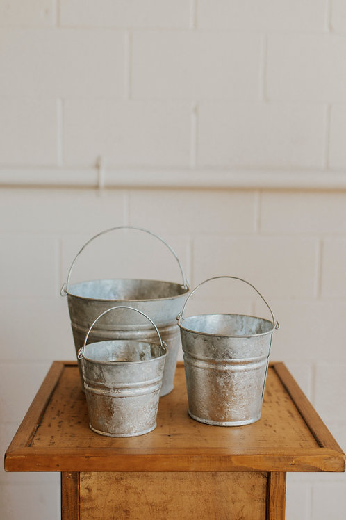 Galvanized Small Buckets