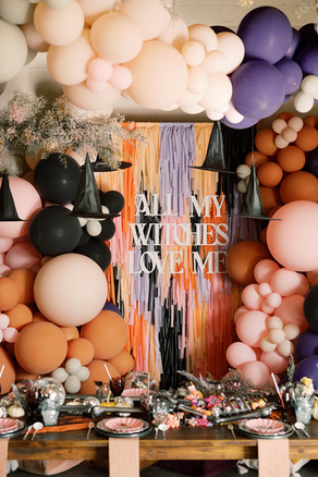 ALL MY WITCHES LOVE ME - CHIC HALLOWEEN PARTY