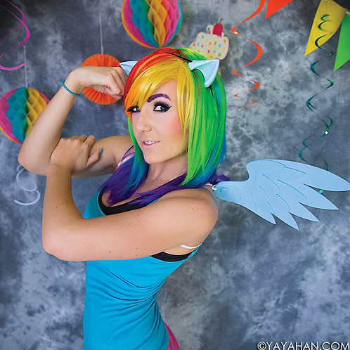 Long Rainbow Wig