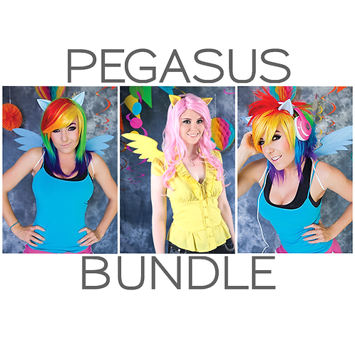 Pegasus Bundle: Ears + Wings + Wig