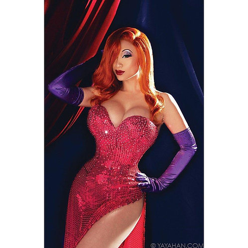 Signed Poster/Print - Jessica Rabbit in Pink