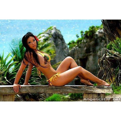 Signed Print - Yellow Bikini