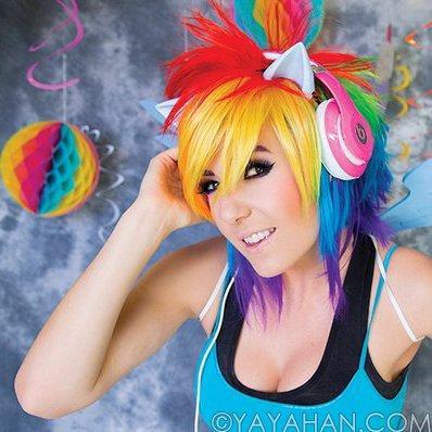 Short Rainbow Wig