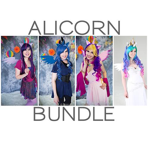 Alicorn Bundle: Ears + Horn + Wings + Wig