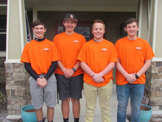 Young Men Serving Their Community