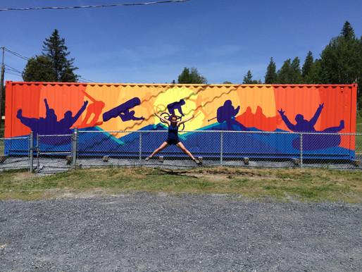 Une murale au centre de ski / An art work at ski center, Saint-Georges