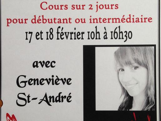 Genevieve donnera un atelier de peinture cet hiver! /  Painting course this winter!
