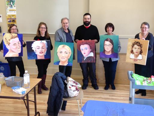 Les sept participants à l'atelier ont relevé le défi! / The art challenge has been a success!