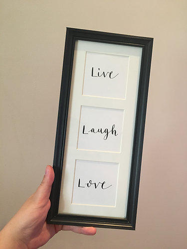 Home | Roxanne Withy Art | Live Laugh Love Quote Frame
