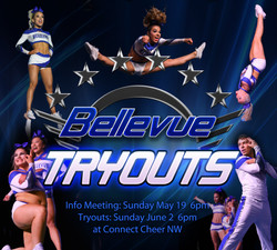Bellevue Tryout Graphic