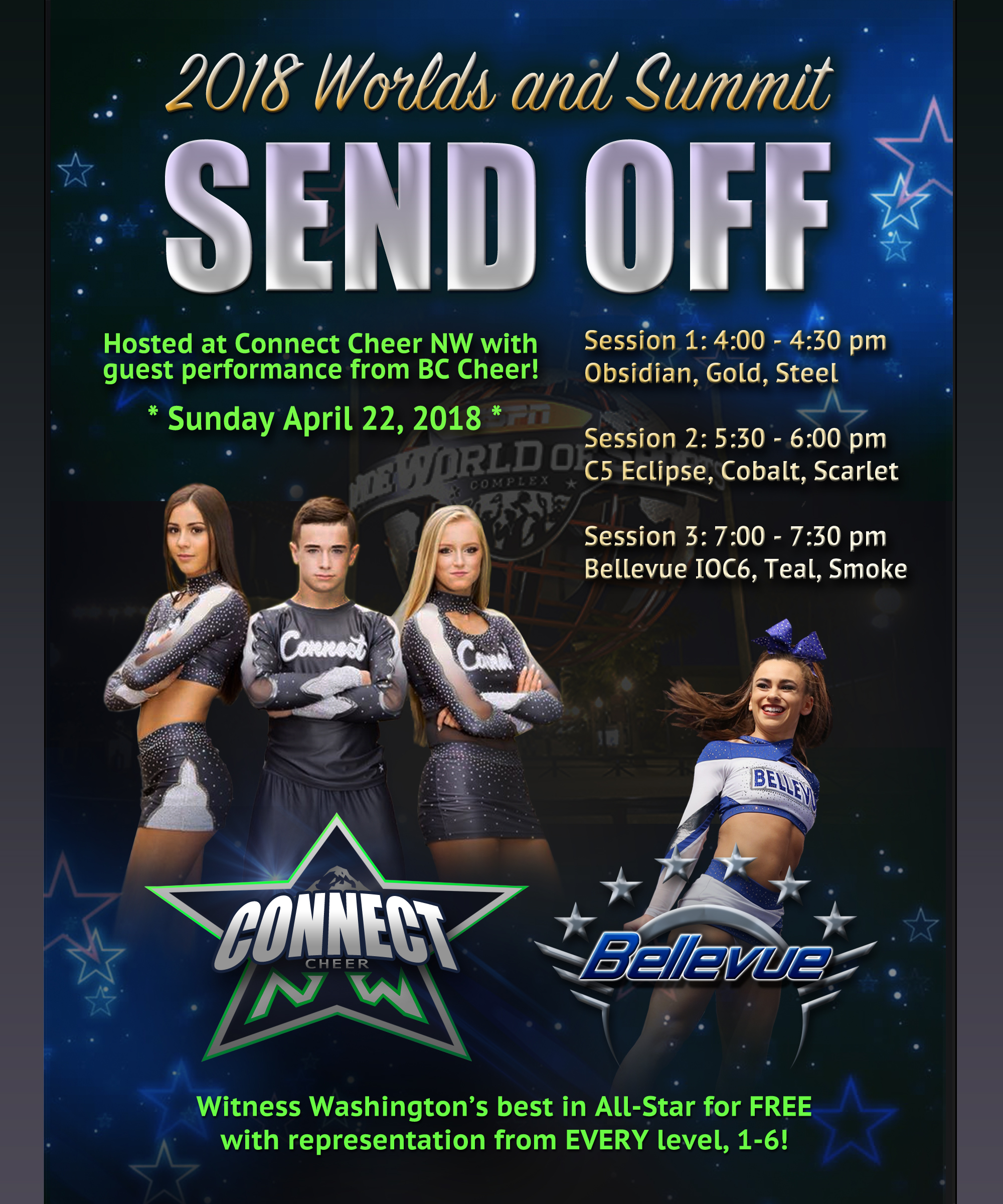 CCNW BC Worlds/Summit send off